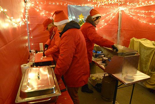 Essenstände für mobiler Weihnachtsmarkt