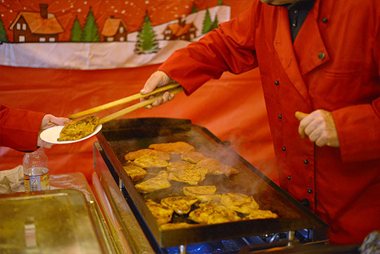 Kräutersteaks für Weihnachtsfeier mobil